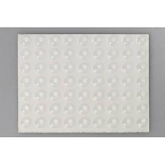 TOOLCRAFT 2008C126-C Foot self-adhesive, circular Transparent (Ø x H) 7.9 mm x 2.2 mm 126 pc(s)
