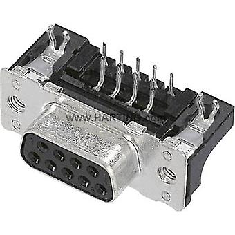 D-SUB receptacles 90 ° Number of pins: 15 Soldering Harting 09 66 252 6615 1 pc(s)