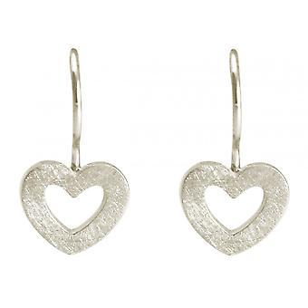 Gemshine - women - heart - earrings - 925 Silver - 20 mm