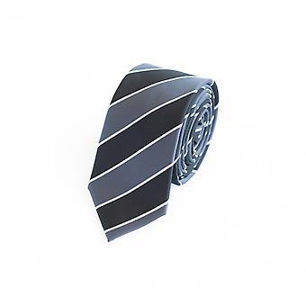Tie stropdas stropdas tie 6cm zwart grijs Fabio Farini wit gestreept