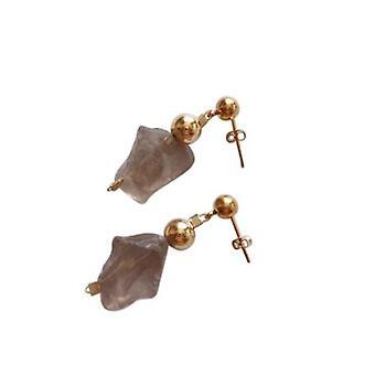 Örhängen rökkvarts ODESSA guldpläterade örhängen