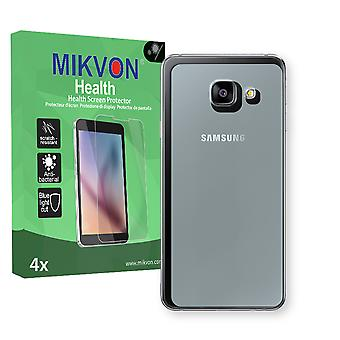 Samsung Galaxy A3 (2016) reverse Screen Protector - Mikvon Health (Retail Package with accessories) (intentionally smaller than the display due to its curved surface)