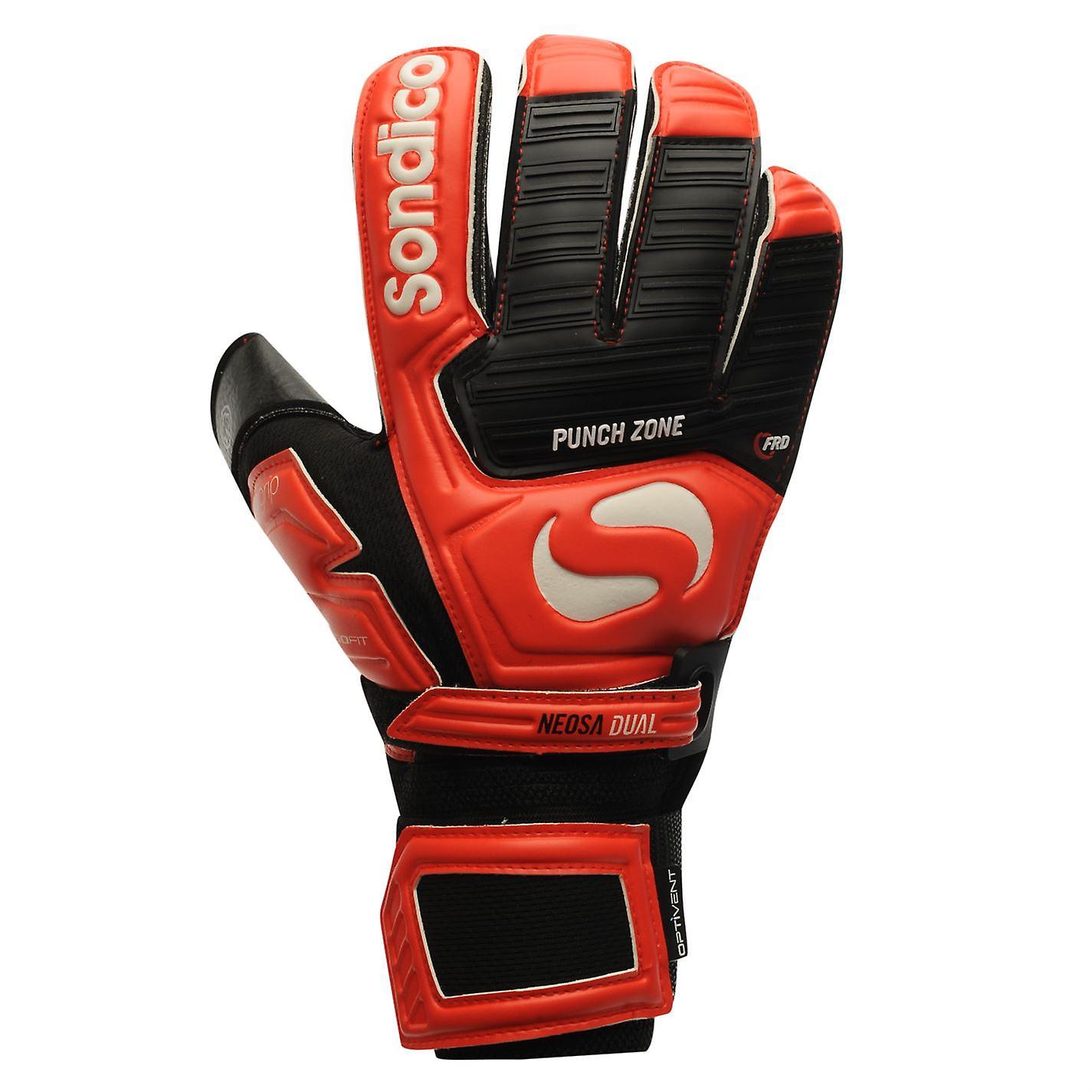 0f54e451bb9 Sondico Mens Neosa Dual Goalkeeper Gloves Football Training Sports  Accessories