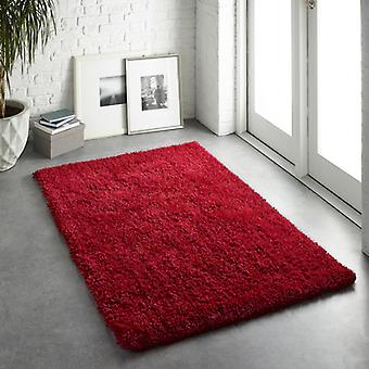 Chicago Red  Rectangle Rugs Plain/Nearly Plain Rugs