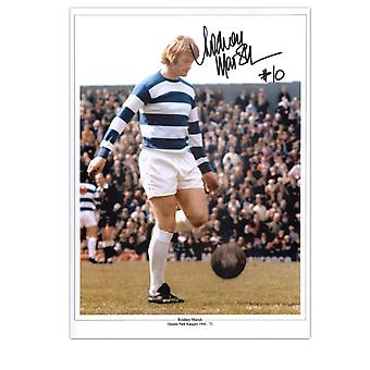 Rodney Marsh Signed QPR Photo