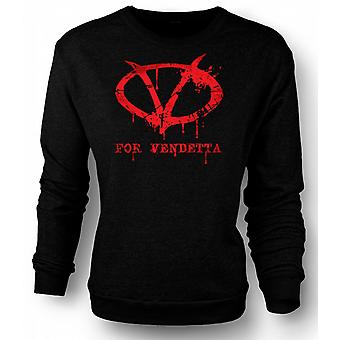 Mens Sweatshirt V For Vendetta - Graffiti Logo
