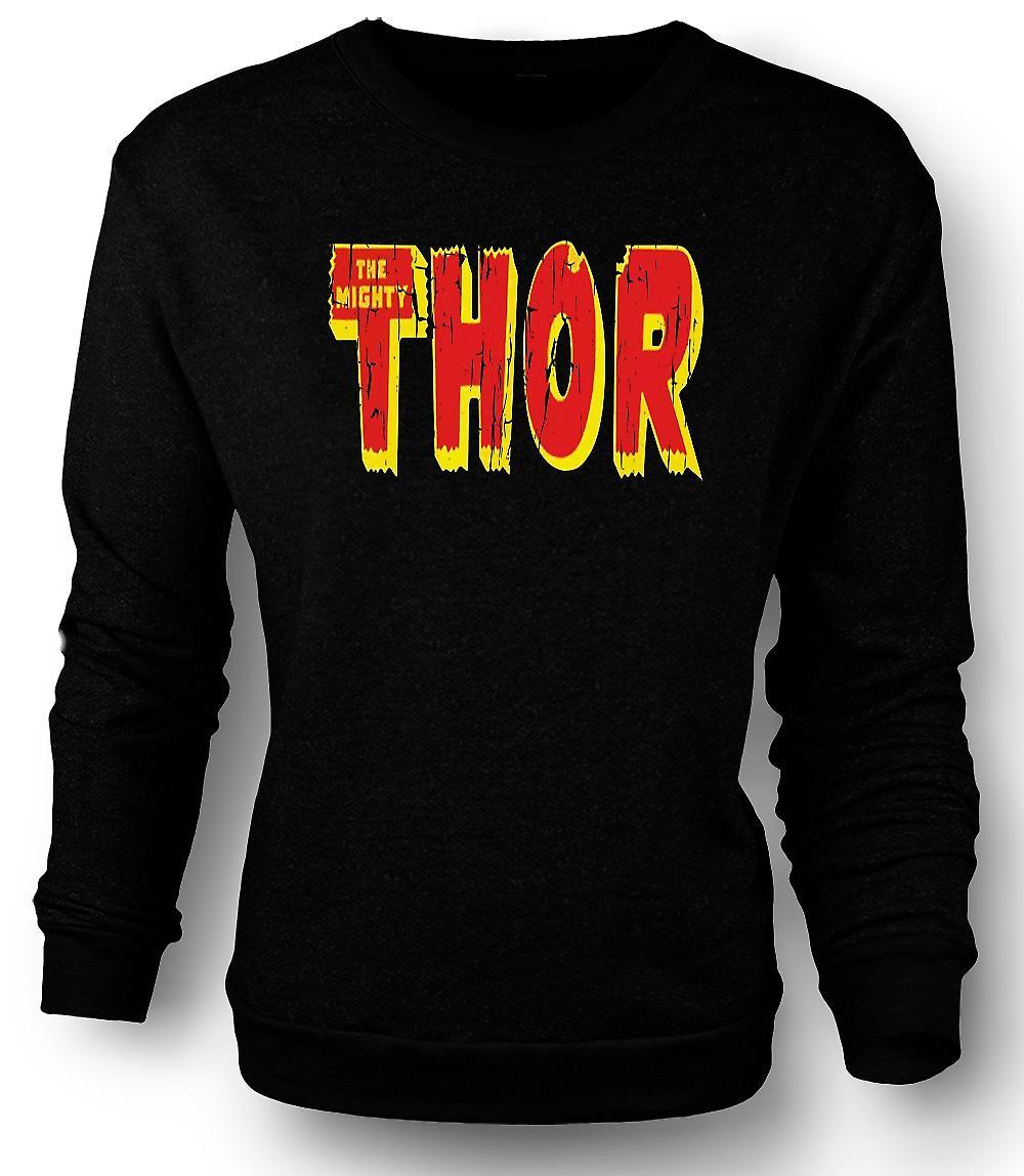 Mens Sweatshirt The Mighty Thor Logo