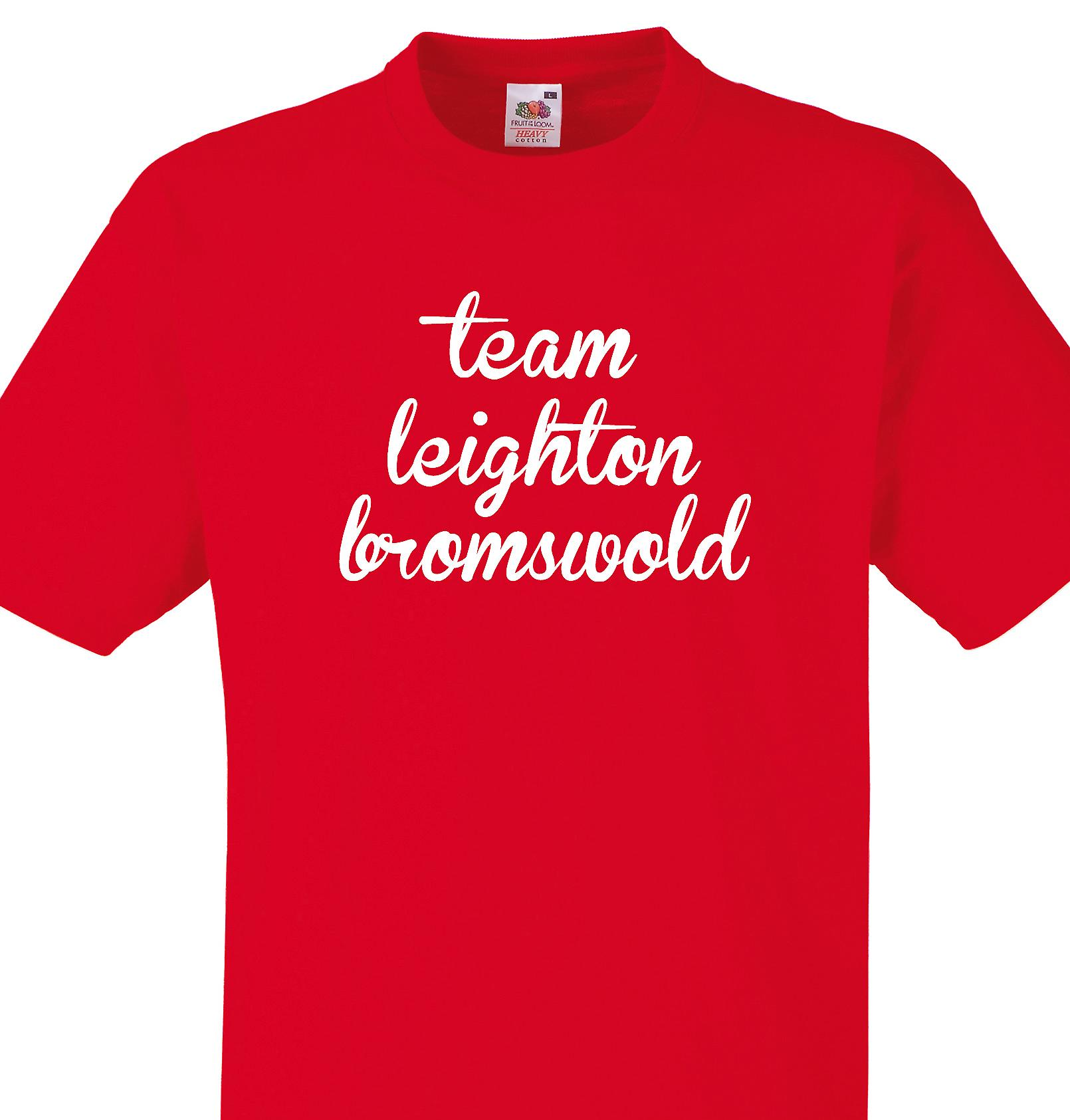 Team Leighton bromswold Red T shirt
