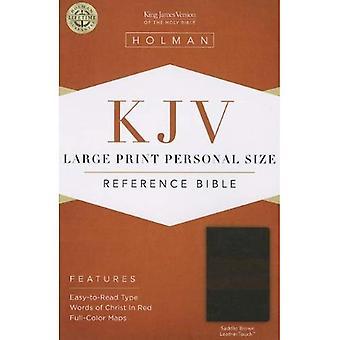 KJV Large Print  Personal Size Reference  SADDLE Brown  LeatherLike