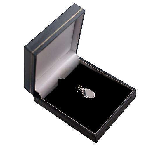 Silber 16x11mm oval Disc Diamantschnittkante