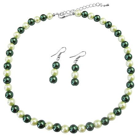 Fashion Jewelry For Everyone Affordable Lite Dark Green Pearl Necklace