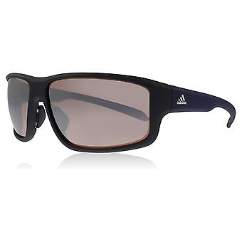 Adidas A424 6051 Black Matte Navy Kumacross 2.0 Wrap Sunglasses Lens Category 3 Lens Mirrored Size 64mm