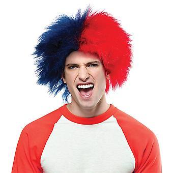 Sport macht Spaß Haarstil blau rot