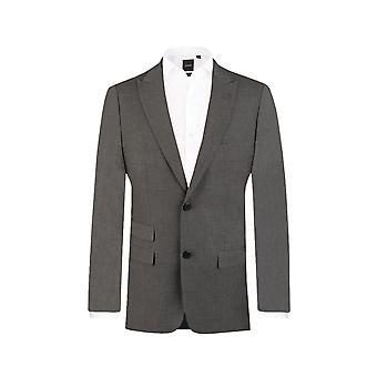 Doball Mens licht grijs pak jasje Slim Fit reizen/Performance Notch revers