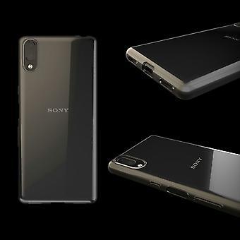 Silikoncase TPU silicone transparant voor Sony Xperia L3 gevaldekking van het beschermende zak op linkermouw