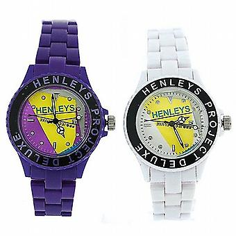 Henleys Project Deluxe Set Of Two Ladies Fashion Watches Xmas Gift Set For Her