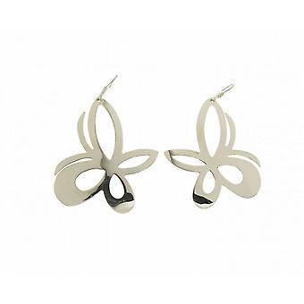 Cavendish French Sterling Silver Fancy Butterfly Earrings