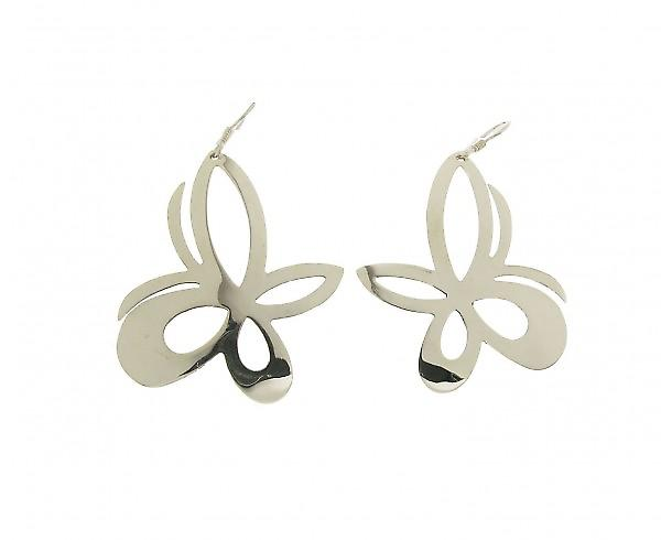 Cavendish French Sterling Silver Fancy Butterfly Earrings