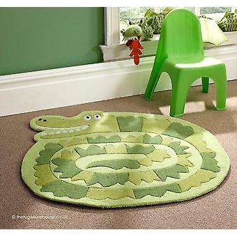 Green Crocodile Rug