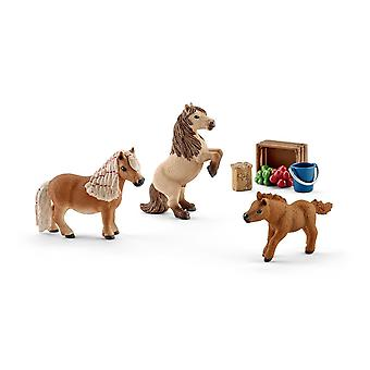 Schleich Horse Club Miniature Shetland Pony Family Toy Figures (41432)