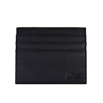Armani Jeans Card Holder Leather Wallet Black
