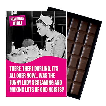 Funny New Baby Birth Gift For Newborn Mum Boxed Chocolate Greeting Card Present CDL137