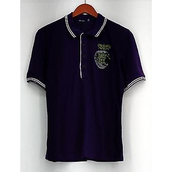Topp kort ermet trykt Polo skjorte Purple New