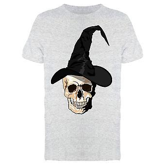 Halloween Skull med hat tee mænd ' s-billede af Shutterstock