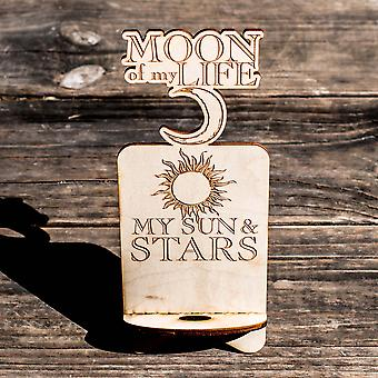 Phone charging station - moon of my life my sun and stars