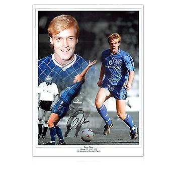 Kerry Dixon Signed Chelsea Photo