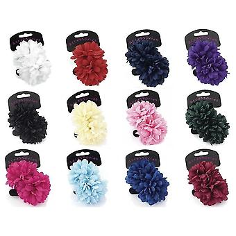 Two piece flower ponio hair set 7cm Various Colours