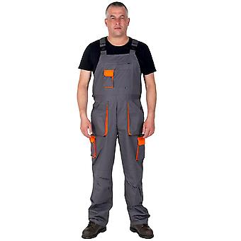 Portwest texo contrast work dungarees - grey