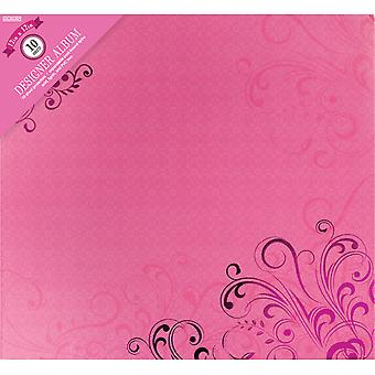 Colorbok Post lié Album 12 « X 12 »-rose papillons 71878D