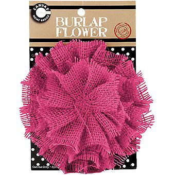 Burlap Flower Hot Pink Burflwr 3023