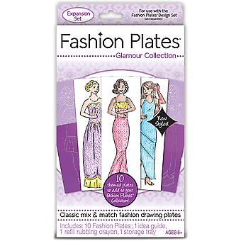 Fashion Plates Kit-Glamour 01301