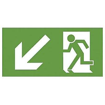 Escape route sign Down left B-SAFETY F563-D