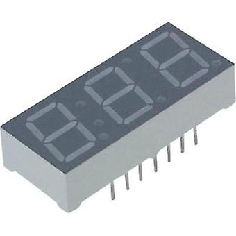 Seven-segment display Yellow 10 mm 2.05 V No. of digits: 3 Lite-On