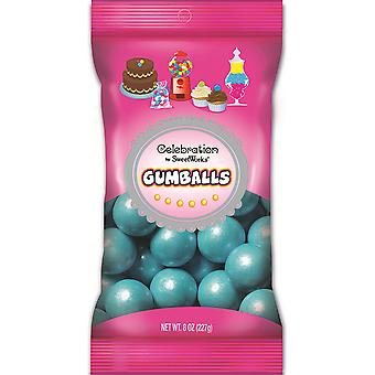 Celebrations By Sweetworks Gumballs 8oz-Shimmer (TM) Powder Blue CG74503