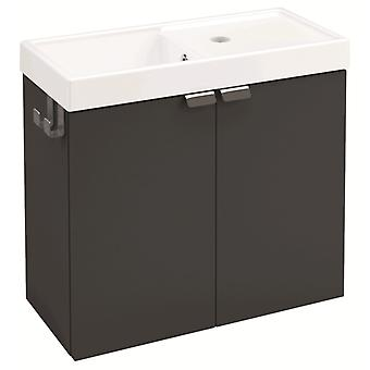 Bath+ Cabinet 2 doors with sink Anthracite 50CM