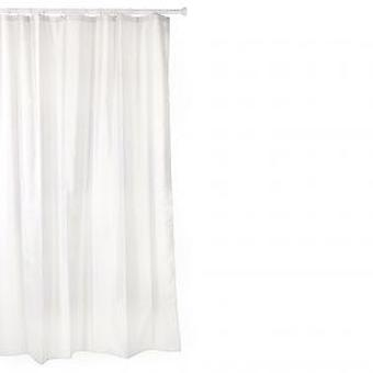 Tatay Polyester shower curtain 140 X 200 White (Home , Bathroom , Bathroom accessoires)