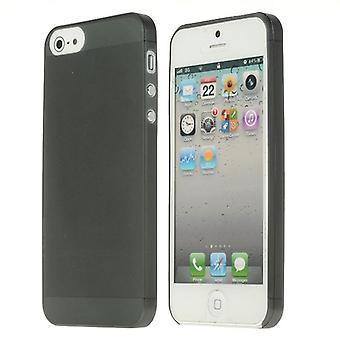 Ultra-dunne (0,25 mm) dekking enigszins doorschijnend, 5 voor iPhone (zwart)