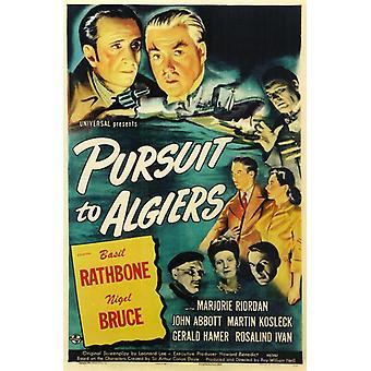 Pursuit to Algiers filmposter (11 x 17)