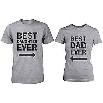 Сопоставление набора серый футболки для папа и дочь - лучший папа / дочь зверь