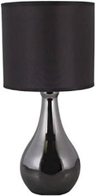 Lloytron 'Eclipse' Black Chrome Touch Table Lamp (L2204BH)