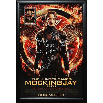 The Hunger Games Mockingjay Part 1 - Signed Movie Poster 27x41 Framed + COA