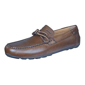 Geox Shoes U Giona E Mens Leather Moccasins / Shoes - Brown
