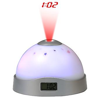 TRIXES Colour Changing LED Starry Light with Digital Alarm Clock Projector