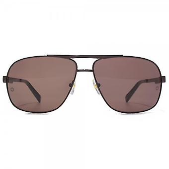Montblanc Metal Square Sunglasses In Brown