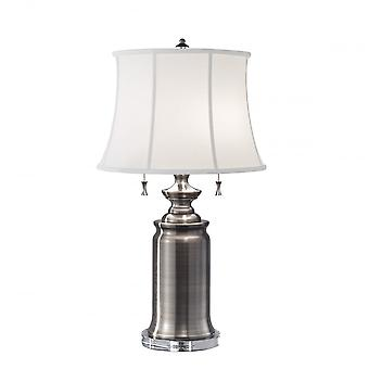 Feiss Stateroom 2lt Table Lamp Antique Nickel
