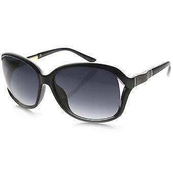 Ladies Modern Elegant Oversized Round Sunglasses
